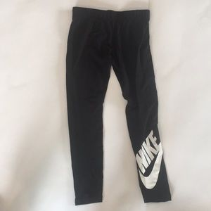 New Nike Girls Just Do It Black Leggings